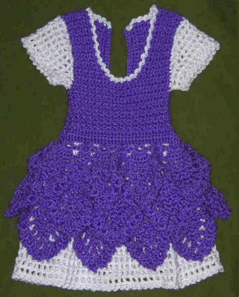 How To Crochet Baby Dress Pattern : preview